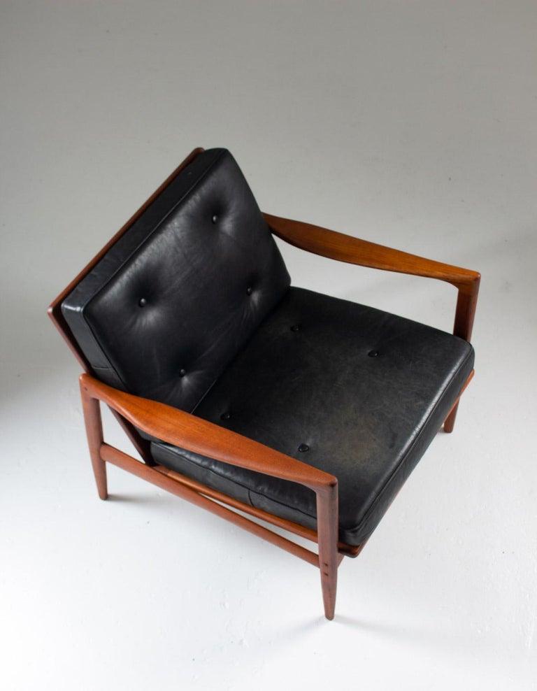 Leather Midcentury Scandinavian Seating Group