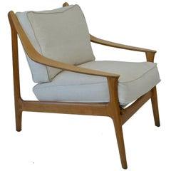 Midcentury Scandinavian Style Bent Ply and Beech Chair