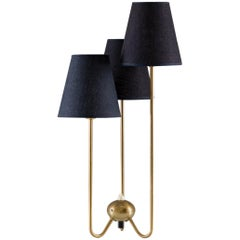 Midcentury Scandinavian Table Lamp in Brass by ASEA
