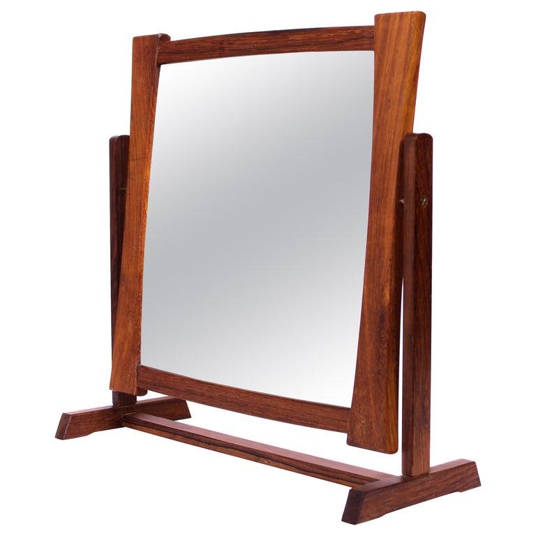 Midcentury Scandinavian Table Mirror For Sale