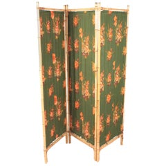 Midcentury Screen Room Divider in Bamboo, Sweden, 1950s