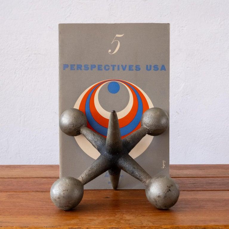 Mid-Century Modern Midcentury Sculptural Jacks Bookends For Sale