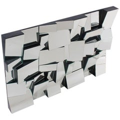 Midcentury Sculptural Modern Slopes Wall Mirror Designed by Neal Small