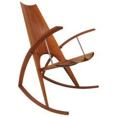 Midcentury Sculptural Rocking Chair