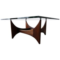 Midcentury Sculptural Walnut Coffee Table by Adrian Pearsall