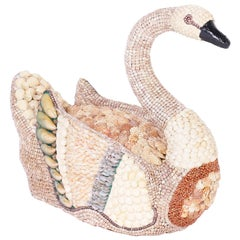Midcentury Sea Shell Encrusted Swan