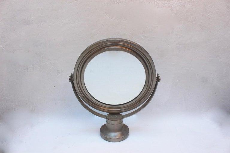 Mid-Century Modern Midcentury Sergio Mazza Round Table Mirror for Artemide, 1976 For Sale