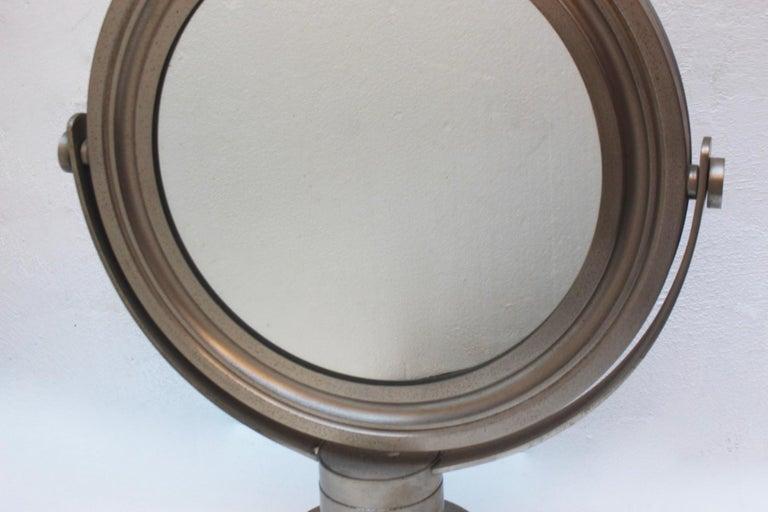 Midcentury Sergio Mazza Round Table Mirror for Artemide, 1976 In Fair Condition For Sale In Valencia, Valencia