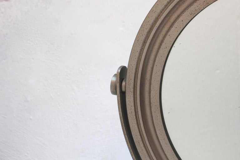 Late 20th Century Midcentury Sergio Mazza Round Table Mirror for Artemide, 1976 For Sale