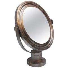 Midcentury Sergio Mazza Round Table Mirror for Artemide, 1976