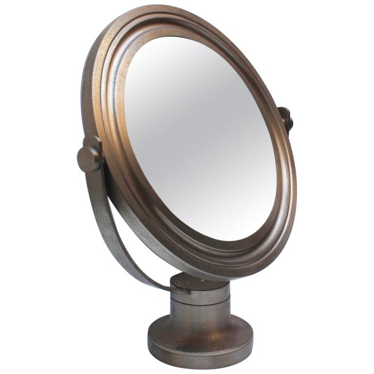 Midcentury Sergio Mazza Round Table Mirror for Artemide, 1976 For Sale