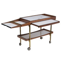 Midcentury Serving Bar Cart