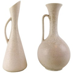 Midcentury Set of 2 Large Vases Gunnar Nylund Midcentury Sweden Rörstrand