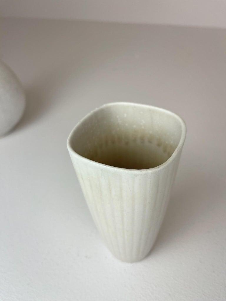 Midcentury Set of 3 Ceramic Pieces Rörstrand Gunnar Nylund, Sweden, 1950s For Sale 5