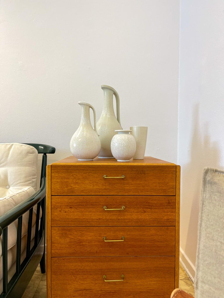 Midcentury Set of 3 Ceramic Pieces Rörstrand Gunnar Nylund, Sweden, 1950s For Sale 10