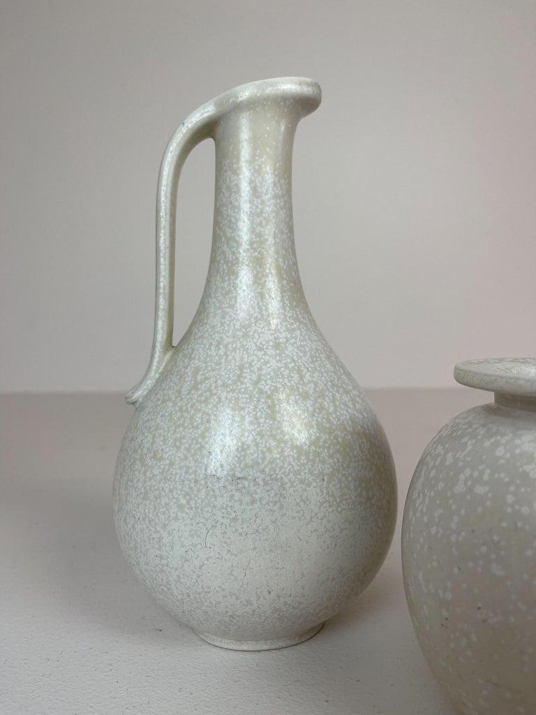 Midcentury Set of 3 Ceramic Pieces Rörstrand Gunnar Nylund, Sweden, 1950s For Sale 1