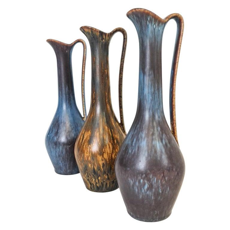Gunnar Nylund R\u00f6rstrand Beautiful stoneware dog sculpture with beautiful brown glaze