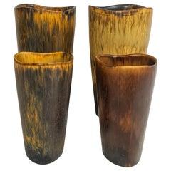 Midcentury Set of 4 Ceramic Vases Gunnar Nylund Rörstrand Sweden