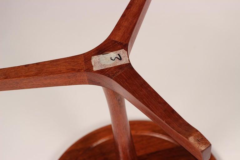 Midcentury Set of 4 Danish Teak Side Tables Designed by Hans C Andersen For Sale 8