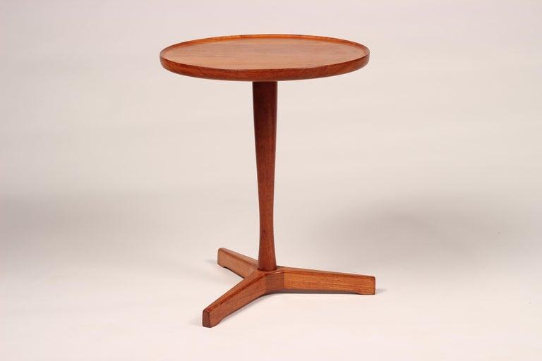 Midcentury Set of 4 Danish Teak Side Tables Designed by Hans C Andersen For Sale 11