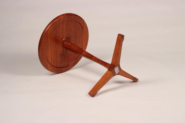 Midcentury Set of 4 Danish Teak Side Tables Designed by Hans C Andersen For Sale 12