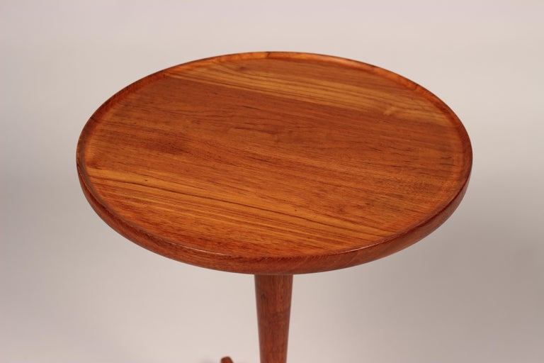 Midcentury Set of 4 Danish Teak Side Tables Designed by Hans C Andersen For Sale 14