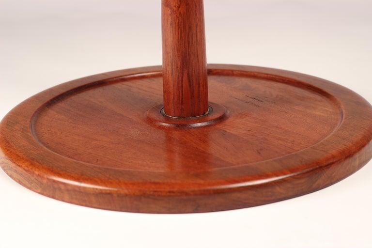 Turned Midcentury Set of 4 Danish Teak Side Tables Designed by Hans C Andersen For Sale
