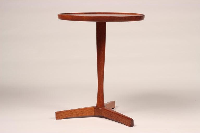 Midcentury Set of 4 Danish Teak Side Tables Designed by Hans C Andersen For Sale 2