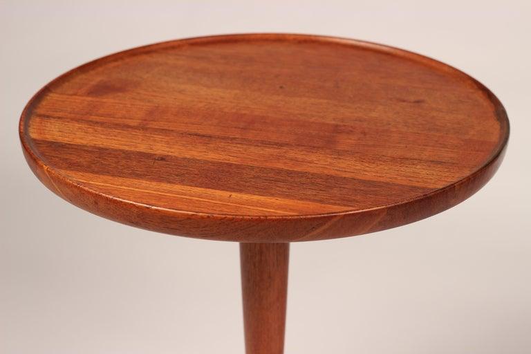 Midcentury Set of 4 Danish Teak Side Tables Designed by Hans C Andersen For Sale 3