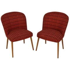 Midcentury Set of Designed Upholstered Chairs, 1960s