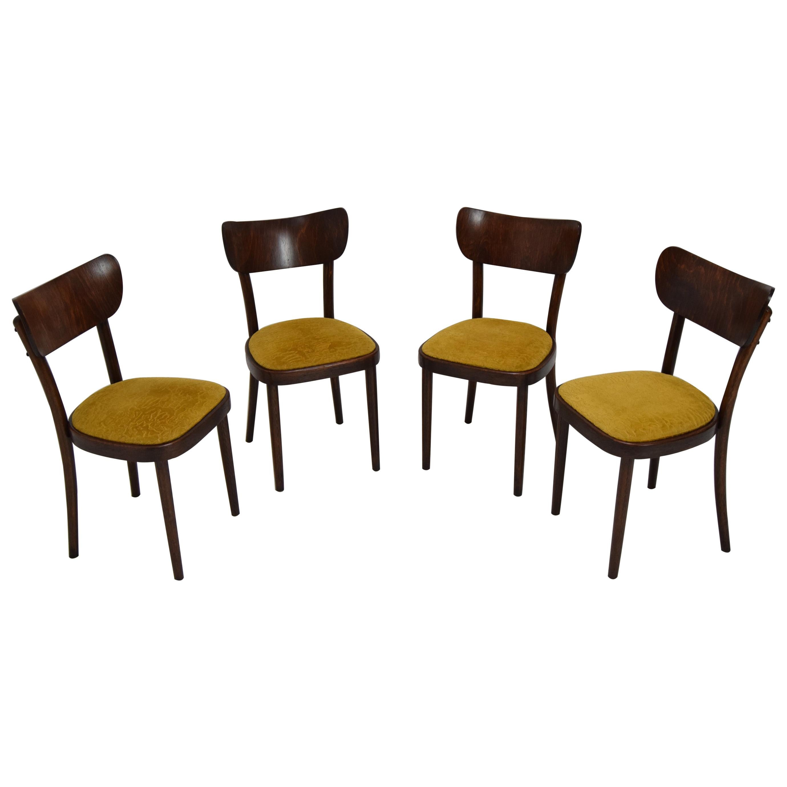 Midcentury Set of Four Chairs or Ton, 1960s