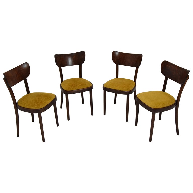Midcentury Set of Four Chairs or Ton, 1960s For Sale