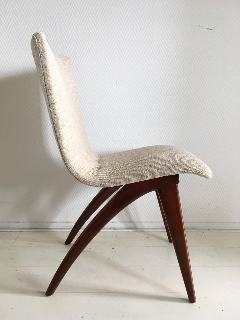 Lacquered Midcentury Set of four Dining Chairs, Model Swing by CJ van Os Culemborg For Sale