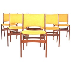Midcentury Set of Six Teak Dining Chairs, Denmark