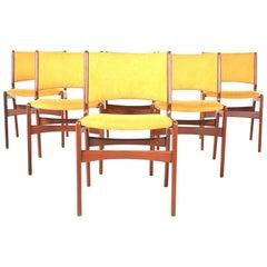 Midcentury Set of Six Teak Dining Chairs, Denmark