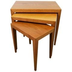 Midcentury Severin Hansen Nesting Tables Oak Severin Hansen Denmark