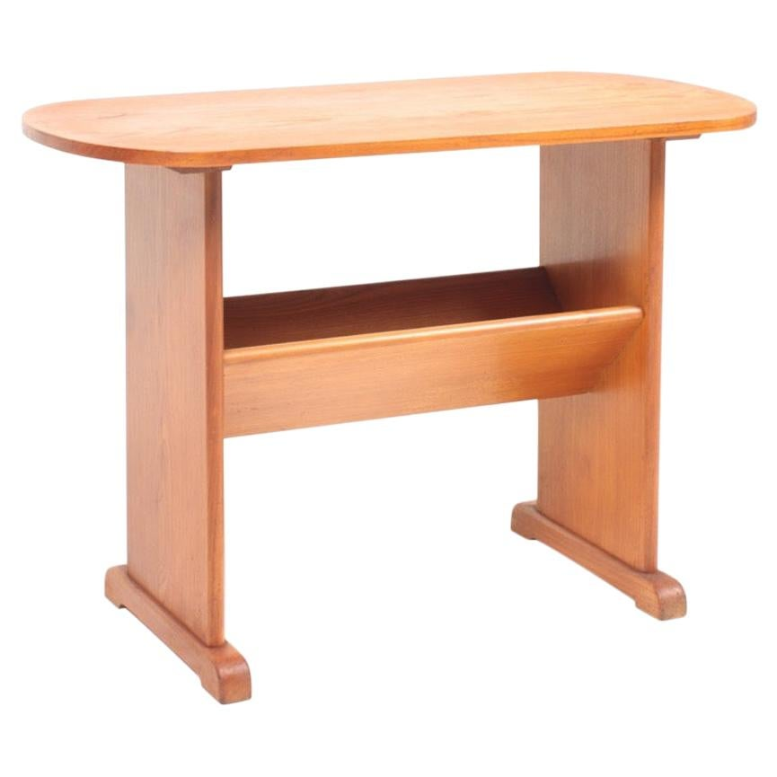 Midcentury Side Table in Ash by Fritz Hansen, Danish Design, 1940s