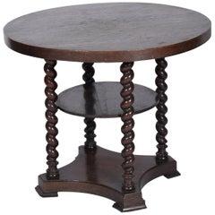 Midcentury Side Table in Oak, 19th Century
