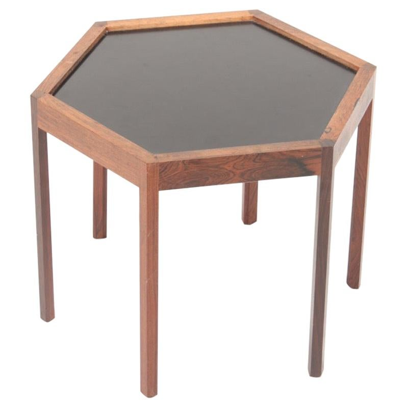 Midcentury Side Table in Rosewood and Formica by Hans C. Andersen, 1950s