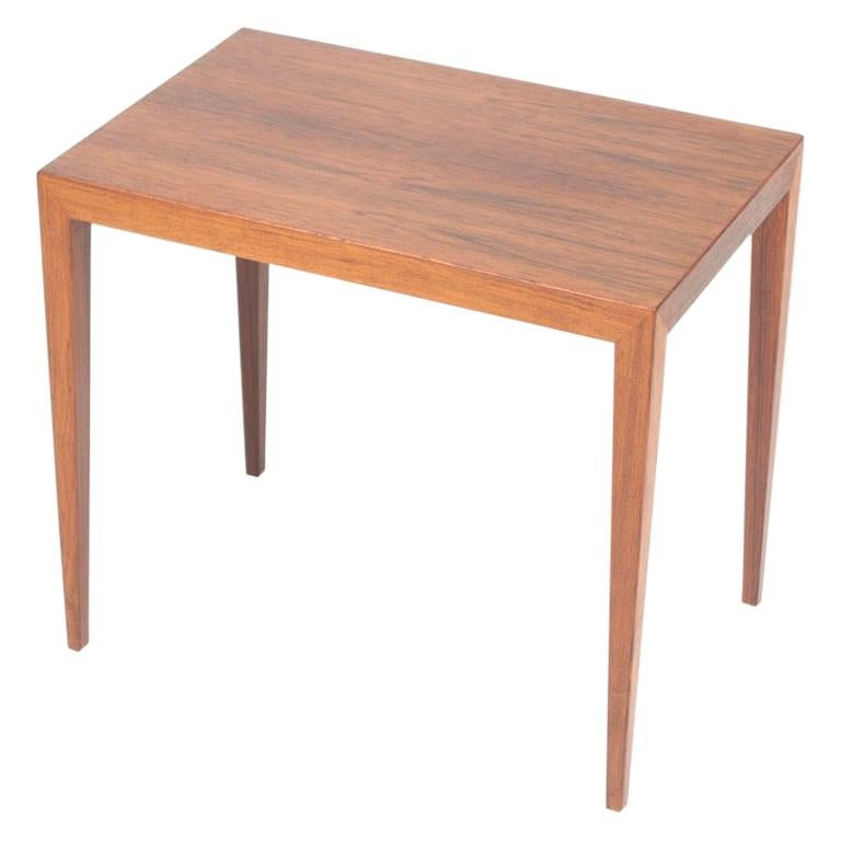 Midcentury Side Table in Rosewood by Haslev, Danish Design, 1960s