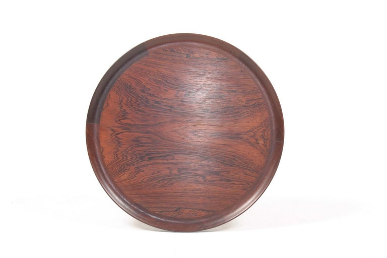 Midcentury Side Table in Rosewood, Danish Design, 1950s For Sale 1