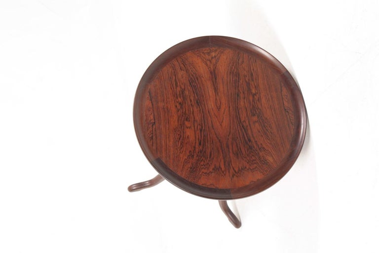 Midcentury Side Table in Rosewood, Danish Design, 1950s For Sale 3