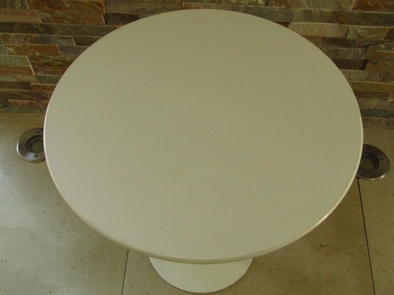 German Midcentury Side Table Tulip by Saarinen for Knoll For Sale