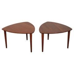 Midcentury Side Tables in Solid Teak by Rastad & Relling for Gustav Bahus