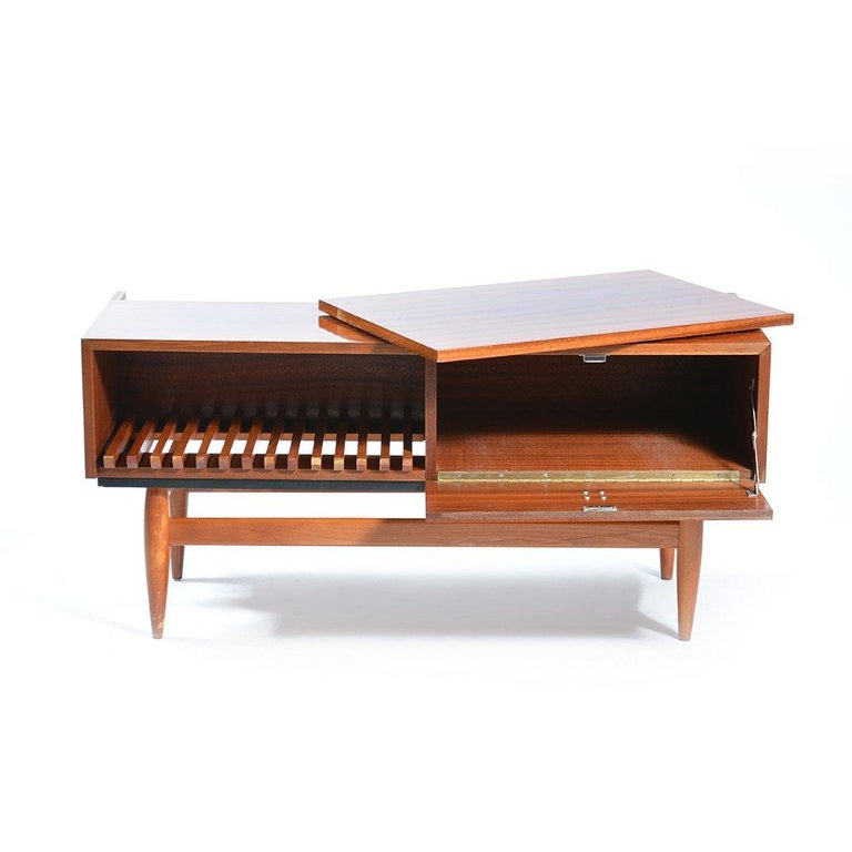 Pleasing Midcentury Sideboard In Mahogany And Brass Czechoslovakia Gamerscity Chair Design For Home Gamerscityorg