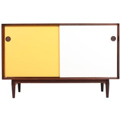 Midcentury Sideboard in Rosewood with Colored Panels by Arne Vodder, 1950s