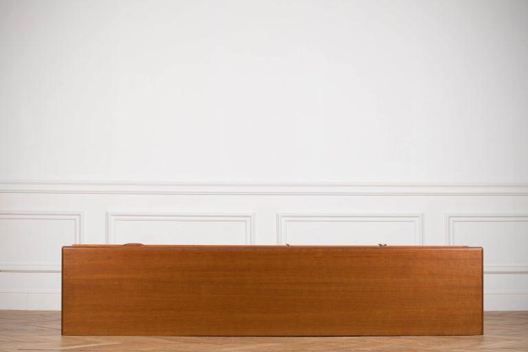 Minimalist & Organic Teak and steel sideboard - 1960 For Sale 14