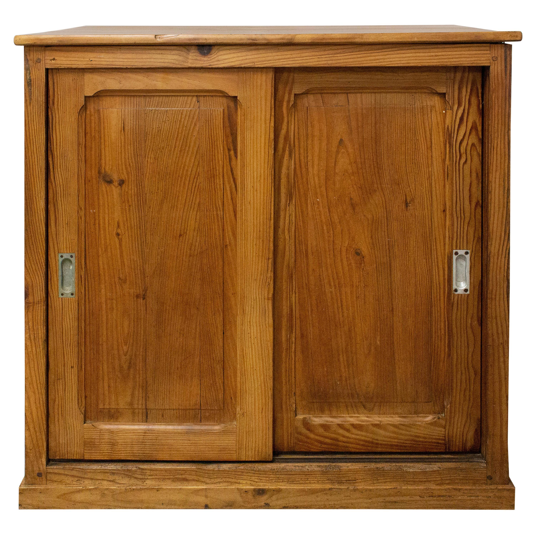Midcentury Sideboard Sliding Doors Credenza Buffet, circa 1950