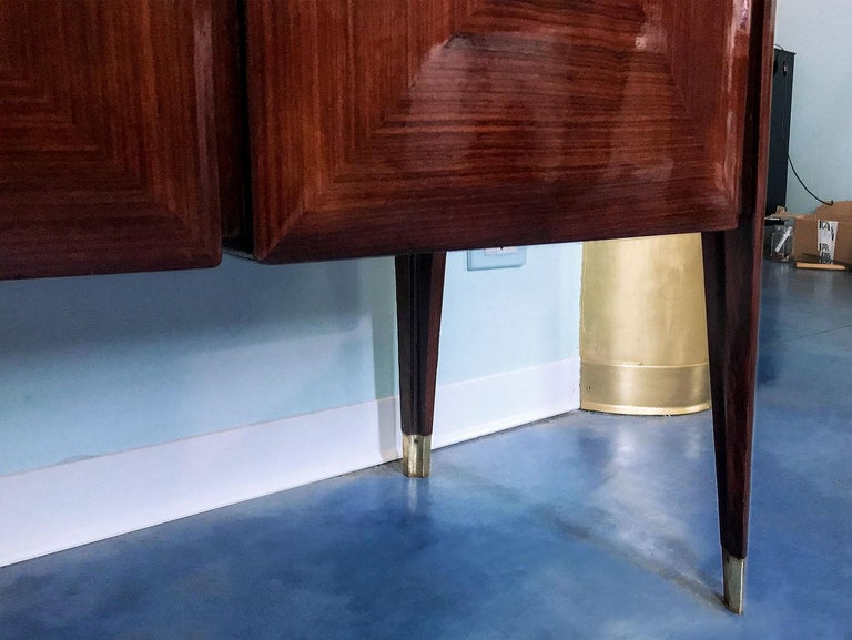 Midcentury Sideboard with Marble Handles by Vittorio Dassi, 1950s For Sale 9