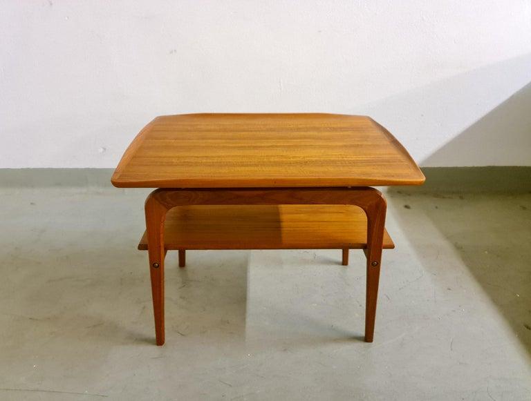 Mid-Century Modern Midcentury Sidetable Arne Hovmand-Olsen for Mogens Kold in Teak For Sale